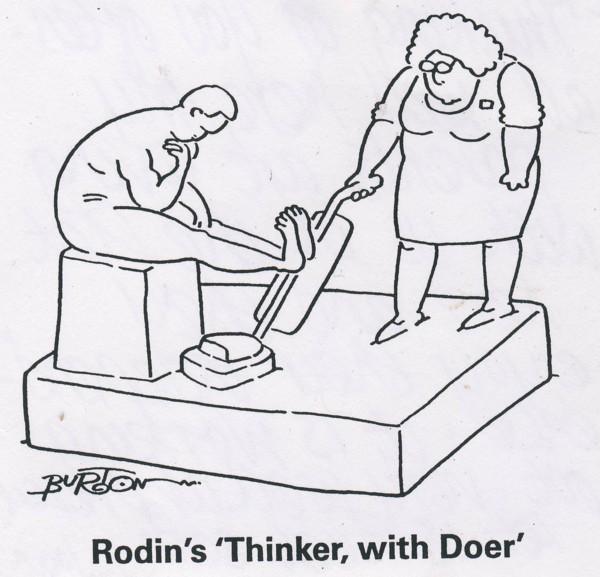 Rodin's thinker small
