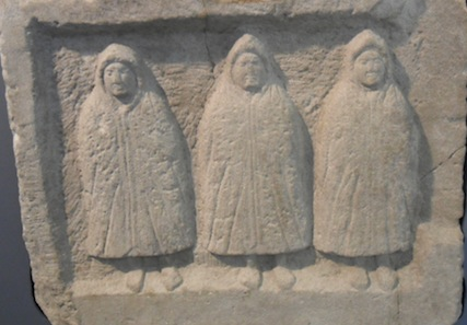 The Three Cucullati - genii loci. These hooded guys are haunting me.